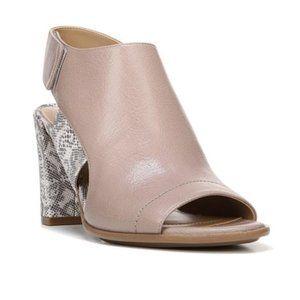 NATURALIZER sandals nude/snake pattern heels 11